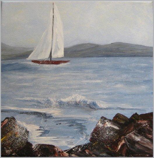 tableau-oeuvre-vague-voilier-rocher